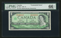 Canadian Currency: , BC-45b-i $1 1967 with M/P Prefix. ...