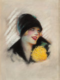 Pin-up and Glamour Art, CHARLES GATES SHELDON (American, 1889-1960). Starlet, Photoplaymagazine cover. Pastel on board. 23.5 x 17.75 in. (image...