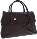 Luxury Accessories:Bags, Bottega Veneta Brown Nappa Leather Intrecciato Top Handle Bag. ...