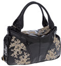 Luxury Accessories:Bags, Valentino Black Patent Leather & Lace Hobo Bag. ...