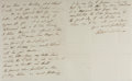 Autographs:Non-American, Admiral Sir Pulteney Malcolm Autographed Letter Signed....