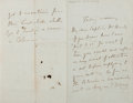Autographs:Non-American, Sir Henry Keppel Autographed Letter Signed....