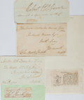 Autographs:Non-American, Group of Four Royal Navy Officers' Signatures... (Total: 4 Items)