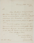 Autographs:Military Figures, William Grenville Letter Signed...
