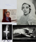 Autographs:Celebrities, Group of Four Photographs Signed by Royal Ballet Dancers... (Total: 4 Items)