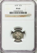 Proof Three Cent Nickels, 1878 3CN PR65 NGC....