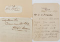Autographs:Military Figures, Group of Three Royal Navy Officers' Signatures... (Total: 3 Items)
