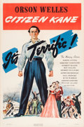 "Movie Posters:Drama, Citizen Kane (RKO, 1941). One Sheet (27"" X 41"") Style A.. ..."