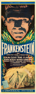 "Movie Posters:Horror, Frankenstein (Universal, 1931). Insert (14"" X 36"").. ..."