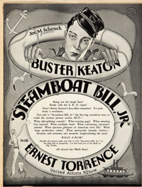 "Steamboat Bill, Jr. (United Artists, 1928). Pressbook (9.5"" X 12.5"", Multiple Pages)"