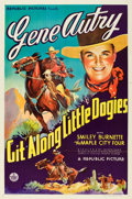 "Movie Posters:Western, Git Along Little Dogies (Republic, 1937). One Sheet (27"" X 41"").. ..."