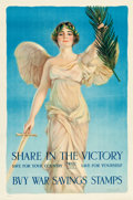 """Movie Posters:War, World War I Propaganda (US Government,1918). Propaganda Poster (20""""X 30"""") """"Share in the Victory"""" by artist Haskell Coffin...."""
