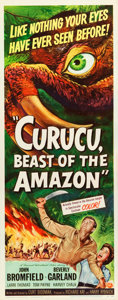 "Movie Posters:Horror, Curucu, Beast of the Amazon (Universal International, 1956). Insert(14"" X 36"").. ..."