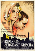 """Movie Posters:War, The Case of Sergeant Grischa (RKO, 1930). Swedish One Sheet (27.5""""X 39.5"""").. ..."""