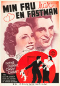 "Movie Posters:Comedy, The Awful Truth (Columbia, 1937). Swedish One Sheet (27.5"" X39.5"").. ..."
