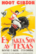 "Movie Posters:Western, Shootin' for Love (Universal, 1923). Swedish One Sheet (27.5"" X39.5"").. ..."