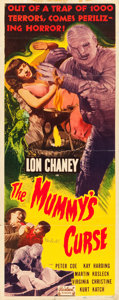 "Movie Posters:Horror, The Mummy's Curse (Realart, R-1951). Autographed Insert (14"" X36"").. ..."