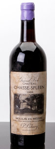 Red Bordeaux, Chateau Chasse Spleen 1959 . Moulis. vhs, bsl, excellentcolor, Belgian bottling. Bottle (1). ... (Total: 1 Btl. )