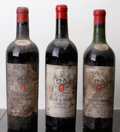 Red Bordeaux, Chateau Le Prieure 1959 . St. Emilion. 1ts, 2vhs, 3hbsl,1-missing vintage tag, 1lcc, Belgian bottling. Bottle (3). ...(Total: 3 Btls. )