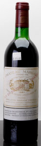 Red Bordeaux, Chateau Margaux 1981 . Margaux. ts. Bottle (1). ... (Total: 1 Btl. )