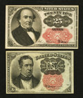 Fractional Currency:Fifth Issue, Fr. 1266 10¢ Fifth Issue About New. Fr. 1309 25¢ Fifth IssueExtremely Fine.. ... (Total: 2 notes)