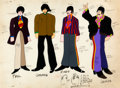 Animation Art:Color Model, Beatles Yellow Submarine Paul McCartney, George Harrison,Ringo Starr, and John Lennon Color Model Cel Animation A...