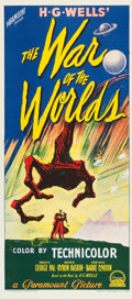 """Movie Posters:Science Fiction, The War of the Worlds (Paramount, 1953). Australian Daybill (13.25"""" X 30"""").. ..."""
