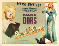 "Blonde Sinner (Allied Artists, 1956). Half Sheet (22"" X 28"") Style A"