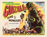 "Godzilla (Trans World, 1956). Half Sheet (22"" X 28"") Style B"