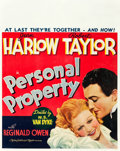 "Movie Posters:Romance, Personal Property (MGM, 1937). Jumbo Window Card (22"" X 28"").. ..."
