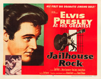 "Jailhouse Rock (MGM, 1957). Half Sheet (22"" X 28"") Style A"