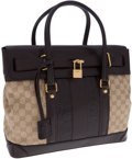 Luxury Accessories:Bags, Gucci Classic Monogram GG Canvas, Brown Crocodile, and BrownLeather Secret Top Handle Bag. ...