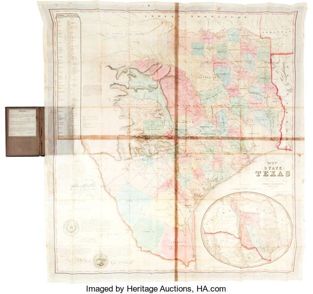 A Map Of The State Of Texas.Map Jacob De Cordova J De Cordova S Map Of The State Of Texas