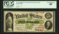 Fr. 61c $5 1862 Legal Tender PCGS Extremely Fine 40