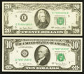 Error Notes:Ink Smears, Two Federal Reserve Note Ink Smear Errors.. ... (Total: 2 notes)