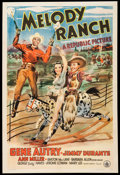 "Movie Posters:Western, Melody Ranch (Republic, 1940). One Sheet (27"" X 41""). Western.. ..."