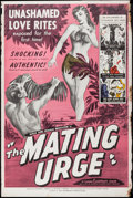 """Movie Posters:Sexploitation, The Mating Urge & Other Lot (Pat Patterson, 1959). Posters (2)(40"""" X 60""""). Sexploitation.. ... (Total: 2 Items)"""