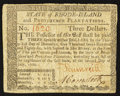 Colonial Notes:Rhode Island, Rhode Island July 2, 1780 $3 Very Fine.. ...