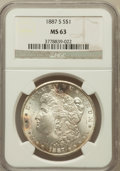 Morgan Dollars: , 1887-S $1 MS63 NGC. NGC Census: (1575/1126). PCGS Population(2641/2115). Mintage: 1,771,000. Numismedia Wsl. Price for pro...