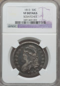 Bust Half Dollars: , 1813 50C -- Scratches -- NGC Details. VF. NGC Census: (12/729).PCGS Population (23/585). Mintage: 1,241,903. Numismedia Ws...