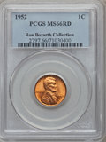 Lincoln Cents, 1952 1C MS66 Red PCGS. Ex: Ron Bozarth Collection. PCGS Population(469/9). NGC Census: (578/72). Mintage: 186,856,976. Num...