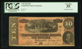 Confederate Notes:1864 Issues, T68 $10 1864 PF-39 Cr. UNL.. ...