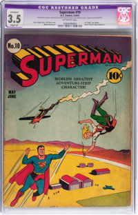 Superman #10 (DC, 1941) CGC Apparent VG- 3.5 Slight (A) Off-white pages