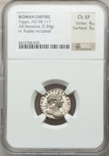 Ancients:Roman Imperial, Ancients: Trajan (AD 98-117). AR denarius (3.34 gm). ...