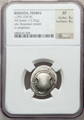 Ancients:Greek, Ancients: BOEOTIA. Thebes. Ca. 395-338 BC. AR stater (12.02 gm)....