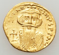 Ancients:Byzantine, Ancients: Constans II (AD 641-668). AV solidus (4.42 gm)....