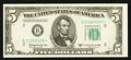 Small Size:Federal Reserve Notes, Fr. 1965-B* $5 1950D Federal Reserve Star Note. Choice Crisp Uncirculated.. ...