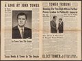 """Movie Posters:Documentary, Tower Tribune (Democrats for Tower, October, 1960). Political Newspaper (Eight Pages, 11.25"""" X 16.5""""). Miscellaneous.. ..."""