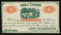 Obsoletes By State:Ohio, New Baltimore, OH - John Lewis 5¢ Dec. 1, 1862. ...