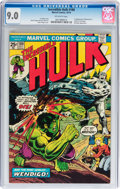 Bronze Age (1970-1979):Superhero, The Incredible Hulk #180 (Marvel, 1974) CGC VF/NM 9.0 Off-white pages....